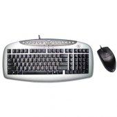 A4 Tech Kb 21620d Klavye Mouse Set Siyah Ps2