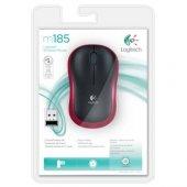 Logitech M185 Kablosuz Mouse Kırmızı 910 002237...