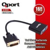 Qport Q Vdv2 Dvi 24+1 To Vga Aktif Dönüştürücü...