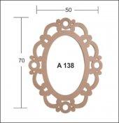 Oval Ayna Çerçevesi 79x46 Cm. Ahşap Obje
