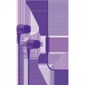 Ttec J10 Mikrofonlu Kulakiçi Kulaklık 3.5mm Mor