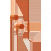 Ttec J10 Mikrofonlu Kulakiçi Kulaklık 3.5mm Turuncu