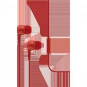 Ttec J10 Mikrofonlu Kulakiçi Kulaklık 3.5mm Kırmızı