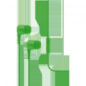 Ttec J10 Mikrofonlu Kulakiçi Kulaklık 3.5mm Yeşil