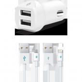 ttec SpeedCharger Duo Araç Şarj Aleti Çift USB 3.1A (Çift Kablo)-2