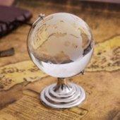 Cam Dünya Küresi Ofis Masa Aksesuarı Cam Küre Hediye Süs