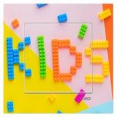 Dekoratif Uv Baskılı Elektrik Düğmesi Priz Kapı Zili Kids Puzzle