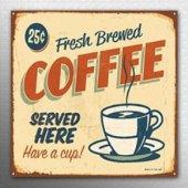 Ev Kafe Dekoratif MDF Tablo 30x30 Kahve Temalı