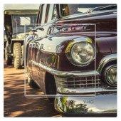 Dekoratif Baskılı Elektrik Düğmesi-Priz-Kapı Zili Klasik Araba