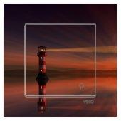 Dekoratif Baskılı Elektrik Düğmesi-Priz-Kapı Zili Deniz Feneri