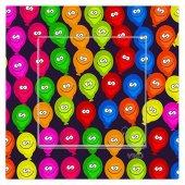 Dekoratif Baskılı Elektrik Düğmesi Priz Kapı Zili Renkli Balonlar