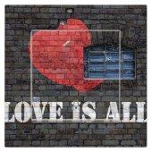 Dekoratif Baskılı Elektrik Düğmesi Priz Kapı Zili Aşk Love