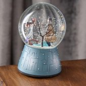 Kış Masalı Sevgili Pilli Müzikli Işıklı Orta Boy Kar Küresi -2