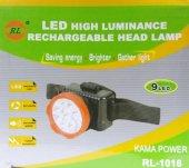 RL-1016 Şarjlı Kafa Feneri Projektör 9 Led