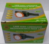 RL-1016 Şarjlı Kafa Feneri Projektör 9 Led-2