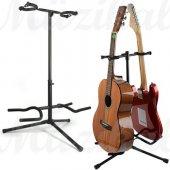 Gitar Standı İkili St12 Gitar Stand 2 Li Saz Bağlama Gitar Ud Se