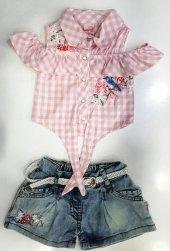 Kız Çocuk Yazlık Takım Gömlek Şort-2