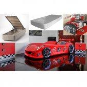 Bazalı Çocuk Odası Araba Yatakları