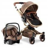 Babyhope BH-3005 Turner 360 Trio Travel Sistem Bebek Arabası