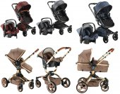 Babyhope BH-3005 Turner 360 Trio Travel Sistem Bebek Arabası-2