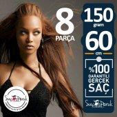 çıt Çıt Saç 8 Parça Koyu Kahverengi Gerçek Saç 150 Gr