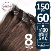 ÇIT ÇIT SAÇ Garantili Gerçek Saçlar A KALİTE SAÇ 8 PARÇA 150 GR-3