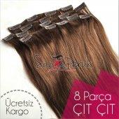 ÇIT ÇIT SAÇ Garantili Gerçek Saçlar A KALİTE SAÇ 8 PARÇA 150 GR-4