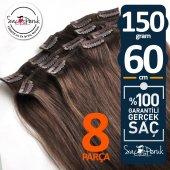 ÇIT ÇIT SAÇ Garantili Gerçek Saçlar A KALİTE SAÇ 8 PARÇA 150 GR-5