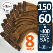 ÇIT ÇIT SAÇ Garantili Gerçek Saçlar A KALİTE SAÇ 8 PARÇA 150 GR-6