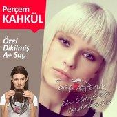 Perçem Kahkül Saç Platin Sarı Türk Saçı