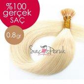 Boncuk Kaynak Saç 0,8 Gr Platin Sarı Gerçek Saç