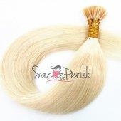 Boncuk Kaynak Saç 0,8 gr Platin Sarı Gerçek Saç-3