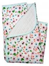 Fuar Baby Çiçek Modelli Alt Açma Battaniye