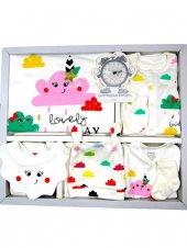 Imaj Baby Renkli Bulutlu Model Tulumlu Lüx 10 Lu Set