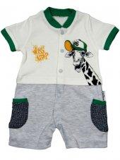 Necix Baby Zürafa Baskılı Tulum 0 3 6 9 Ay