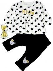 Imaj Baby Meow Model Bandanalı Lüx Takım 3 6 9 12 Ay