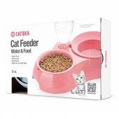 Cat Idea Kedi Mama Kabı Yeşil Su İçin Pet Şişe Takılabilir-2