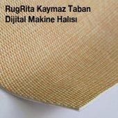 RugRita Sarı Geometrik Nokta desenli Kaydırmaz Taban halı-3