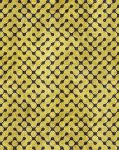 RugRita Sarı Geometrik Nokta desenli Kaydırmaz Taban halı-2