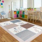 Rugrita Oyuncak Desenli Kaydırmaz Taban Çocuk Odası Halısı