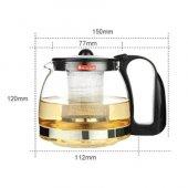 Süzgeçli Cam Demlik 700 ML Tea Pot Çay Kahve Bitki Çayı Çaydanlık-2