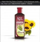 Natur Vital Henna Kızıl Renk Saçlar İçin Şampuan 300 Ml