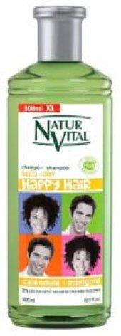 Natur Vital Happy Kuru Saçlar İçin Doğal Şampuan 500ml Aile Boyu