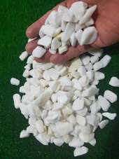 Beyaz Dolomit Taş 2 Kg 1,5 2,5 Cm Beyaz Dekorasyon...