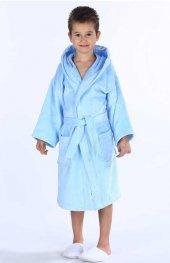 Özdilek Boy Traffic 3-4 yaş Erkek Çocuk Bornozu Mavi