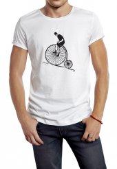 Bisiklet Temalı Özel Tasarım Erkek Tişört