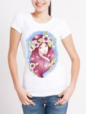 çiçek Taçlı Bayan Tişört