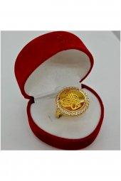 Cigold 14 Ayar Tuğralı Yüzük 15K1YZK0464000834-3