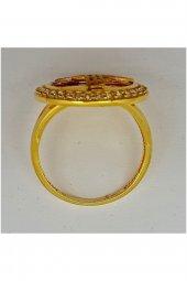 Cigold 14 Ayar Tuğralı Yüzük 15K1YZK0464000834-2