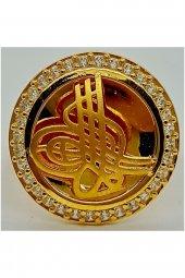 Cigold 14 Ayar Tuğralı Yüzük 15K1YZK0464000834